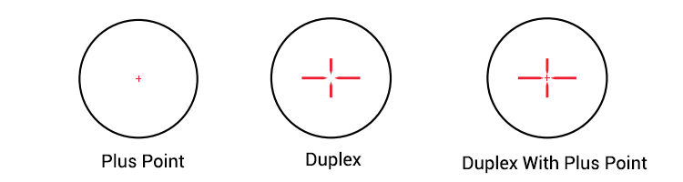3-Different Reticles