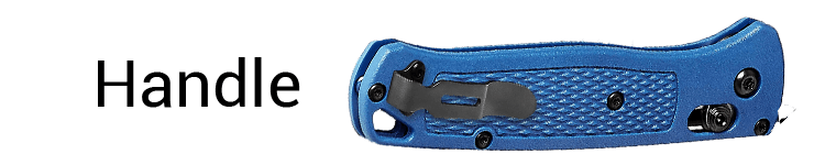 Benchmade Bugout Folding Hunting Knife Handle