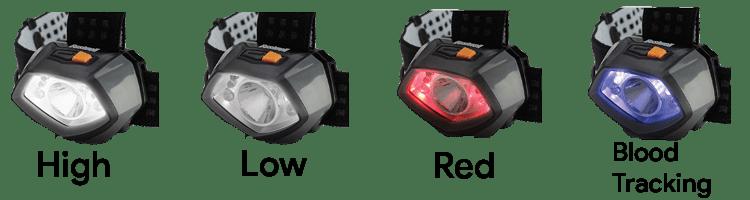 Bushnell 325L Headlamp Light Modes