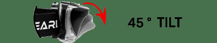 GearLight Headlamp 45 degree tilt