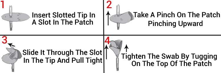 Otis Gun Cleaning Patches Used Method