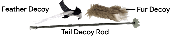 ICOtec PD200 Predator Decoy Tail With 2 Topper