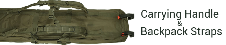Voodoo Padded Weapons Case Carry Handle and Backpack Strap