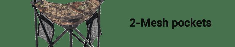 ALPS OutdoorZ Tripod Hunting Stool 2 Mesh Pockets