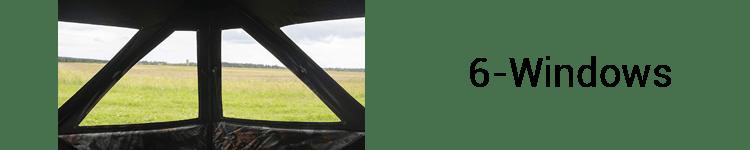 Barronett Hub Hunting Ground Blind With 6 Windows