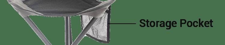 PORTAL Tall Folding Tripod Stool With Storage Pocket