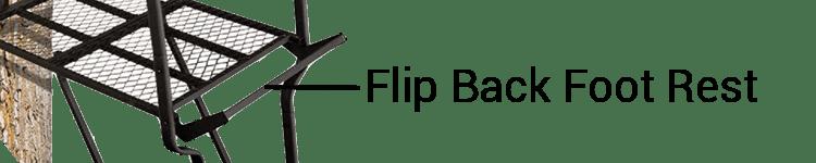 BIG GAME Ladder Treestand With Flip Back Foot Rest