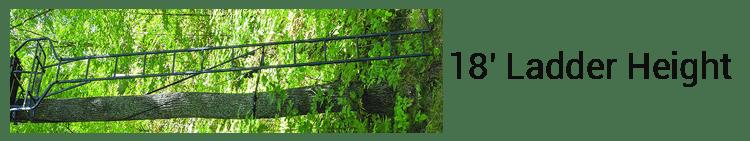 Rivers Edge 2-Man Ladder Treestand 18' Ladder Height
