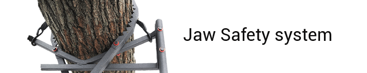The Jayhawk Ladder Tree Stand With Jaw safety system