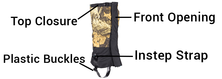 Qshare Leg Hunting Gaiters for Boots With Plastic buckles