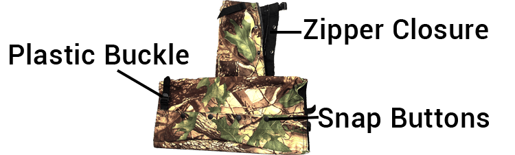 U.S. Solid Hunting Snake Gaiters With Zipper Closure