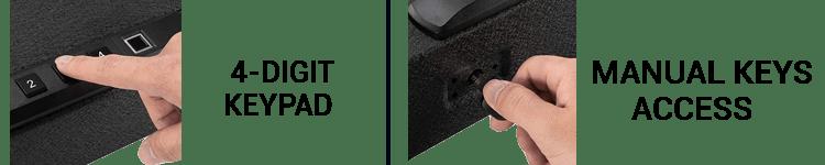 RPNB Biometric Gun Safe Comes 3 Lock Type