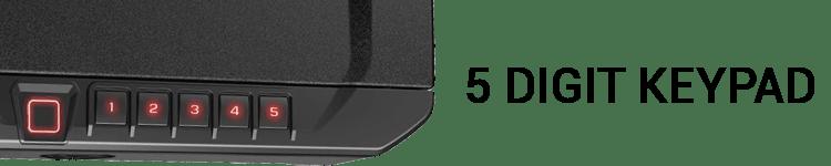 VAULTEK Biometric Gun Safe With 5 digit Keypad Combination