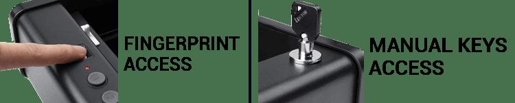 awesafe Biometric Gun Safe Comes With 3 Lock Type